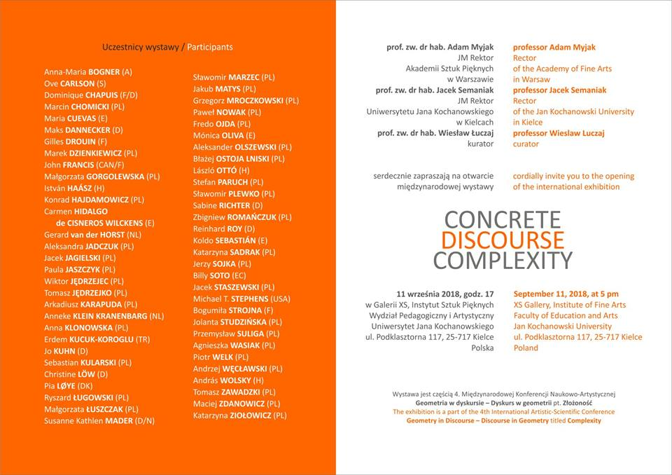 Exhibition: CONCRETE DISCOURSE COMPLEXITY | Kielce, Poland